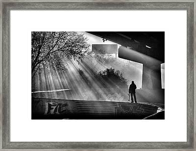 Lone Skater Framed Print by Scott Wyatt