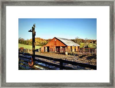 Lone Star Barn II Framed Print by Cricket Hackmann