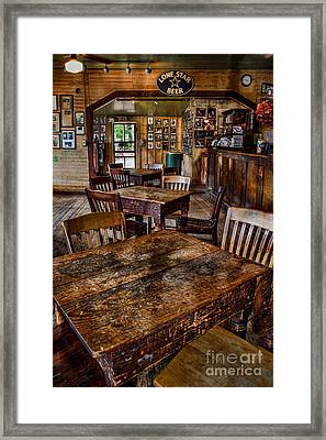 Lone Star Beer Framed Print by Norma Warden