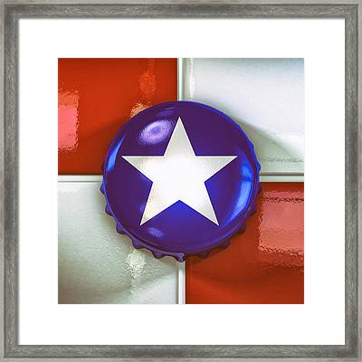 Lone Star Beer Framed Print