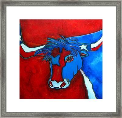 Lone Star Longhorn Framed Print