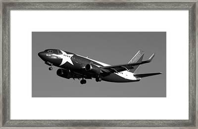 Lone Star Southwest Plane Framed Print by Daniel Woodrum