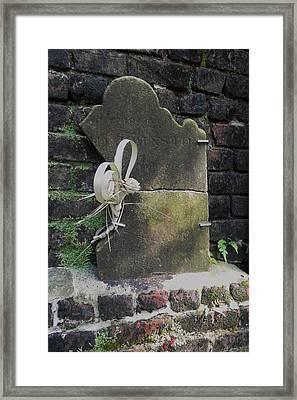 Lone Stone Framed Print by Patricia Greer