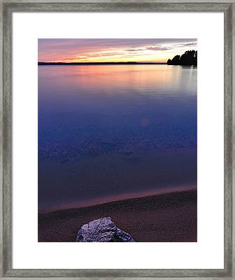 Lone Stone Framed Print by Paul Noble