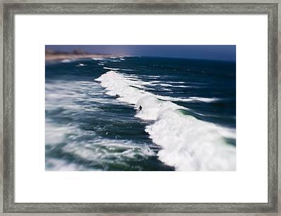 Lone Surfer Framed Print by Scott Pellegrin