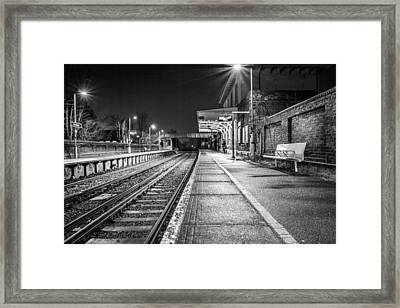 Framed Print featuring the photograph Lone Traveller. by Gary Gillette