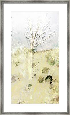 Lone Tree Abtract Art Framed Print by Ann Powell