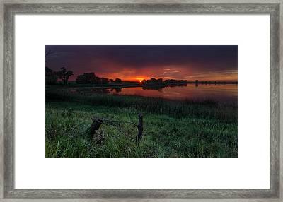 Lone Tree Lake Framed Print by Aaron J Groen