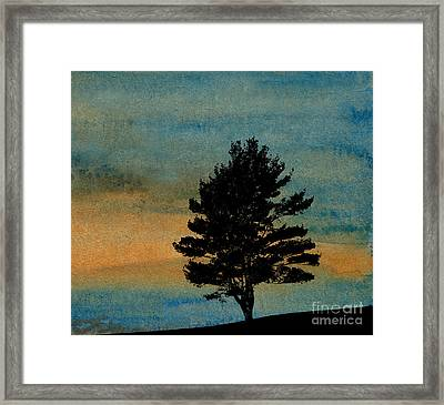 Lone Tree Framed Print by R Kyllo