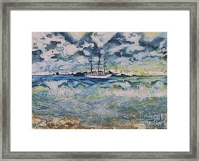 Lone Vessel  Framed Print