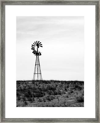 Framed Print featuring the photograph Lone Windmill by Cathy Anderson
