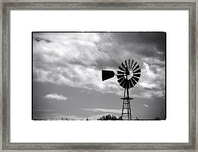 Lone Windmill On The Prairie Framed Print