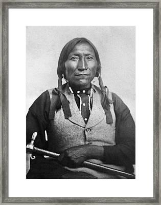 Lone Wolf (c1820-1879) Framed Print by Granger