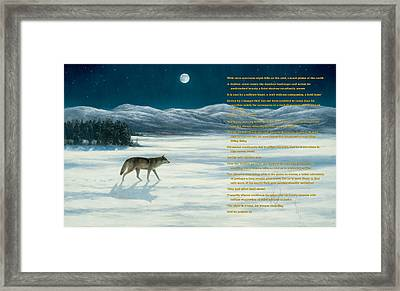 Lone Wolf In Winter   Version 1 Framed Print by Steve Swavely