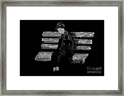Loneliness Black And White Framed Print by Bouquet  Of arts