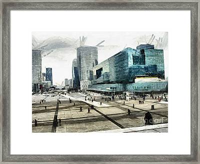 Loneliness And Business In Paris Framed Print by Daliana Pacuraru