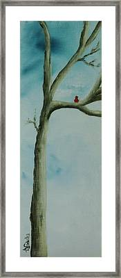 Framed Print featuring the painting Loneliness by Annamarie Sidella-Felts