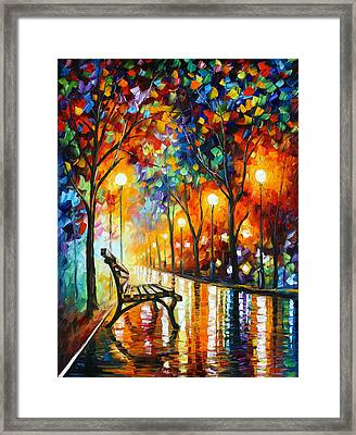 Loneliness Of Autumn Framed Print by Leonid Afremov