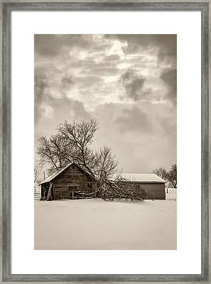 Loneliness Sepia Framed Print