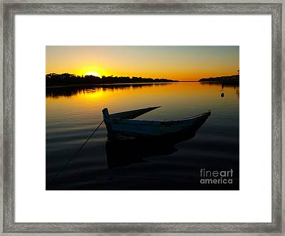 Framed Print featuring the photograph Lonely At Sunrise by Trena Mara
