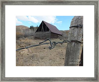 Lonely Barn Framed Print by Marcus Maiden