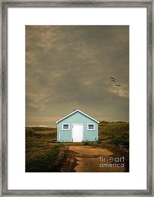 Lonely Beach Shack Framed Print