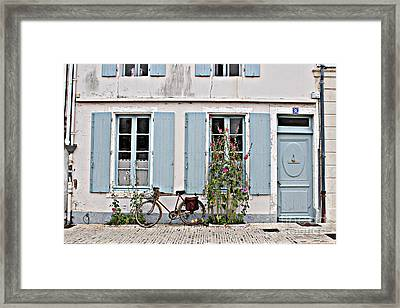 Framed Print featuring the photograph Lonely Bicycle... by Cendrine Marrouat