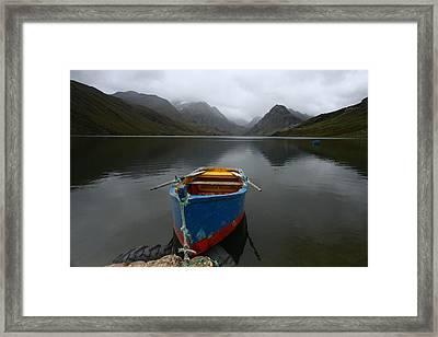 Lonely Boat Framed Print by Dan Breckwoldt