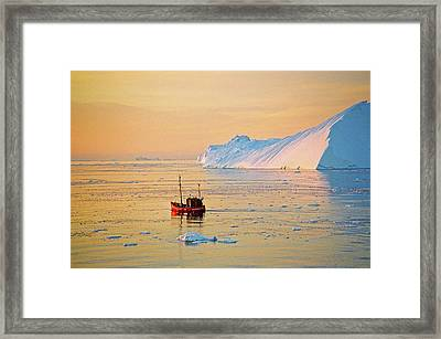 Lonely Boat - Greenland Framed Print