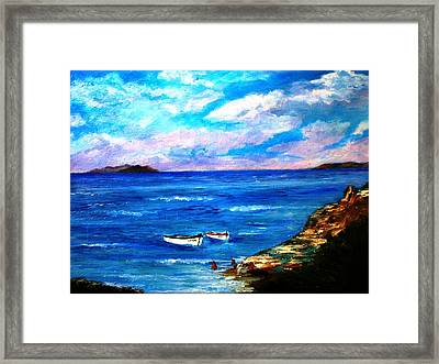 Lonely Boats Framed Print