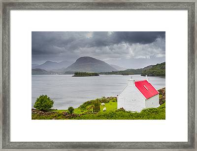 Framed Print featuring the photograph Lonely Cottage by Maciej Markiewicz