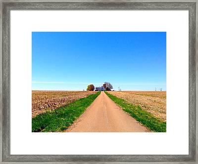 Lonely Farm Framed Print