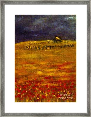 Lonely Farmhouse Framed Print by C Fanous