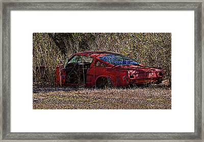 Framed Print featuring the photograph Lonely Fastback by Victor Montgomery