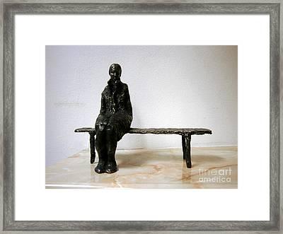 Lonely Girl Framed Print by Nikola Litchkov