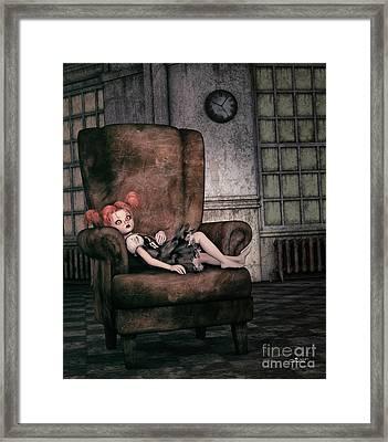 Lonely Gothic Doll Framed Print by Jutta Maria Pusl