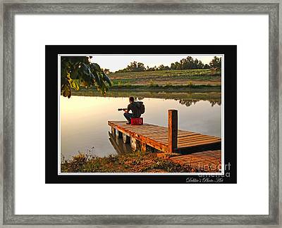 Lonely Guitarist Framed Print