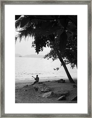 Lonely Guitarist Framed Print by Kaleidoscopik Photography