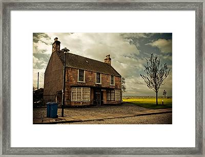 Lonely House On The Shore Of The River Forth. Culross Sketches. Scotland Framed Print by Jenny Rainbow