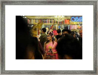 Lonely In Crowd Framed Print by Money Sharma
