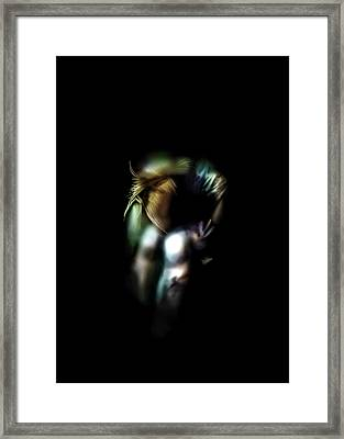 Lonely In The Dark Framed Print by Anton Egorov