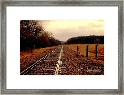 Framed Print featuring the photograph Lonely Journey by Karen Kersey