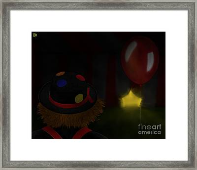 Lonely Laughter Framed Print
