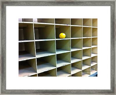Lonely Lemon Framed Print by WaLdEmAr BoRrErO