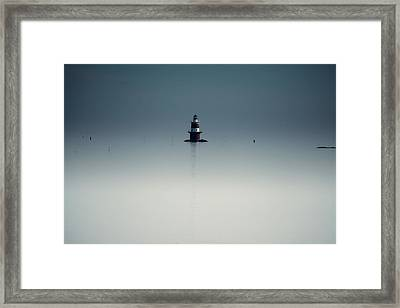 Lonely Lighthouse  Framed Print by Karol Livote