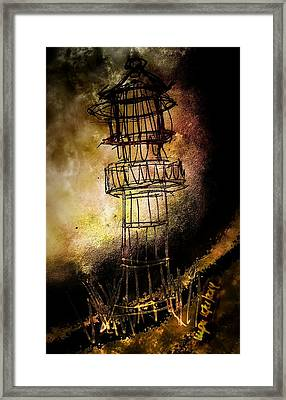 Lonely Lighthouse Framed Print