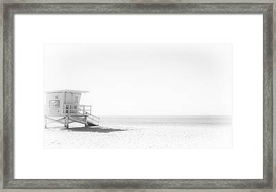 Lonely Lookout Framed Print