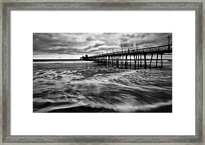 Framed Print featuring the photograph Lonely Man On The Pier by Ryan Weddle
