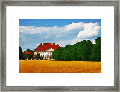Lonely Mansion Framed Print by Inspirowl Design