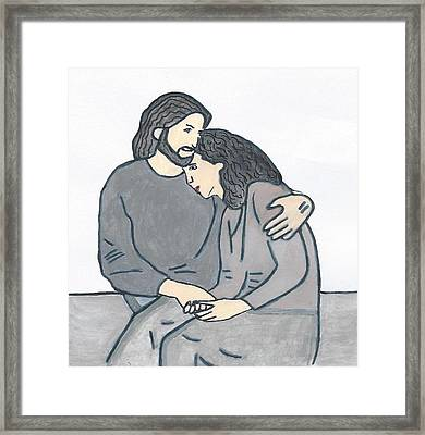Lonely Meets God Framed Print